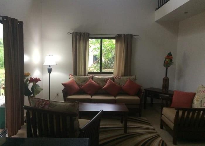 2 bedroom villla living room